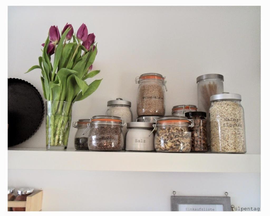 Frühjahrsputz in der küche   neue vorratsgläser   tulpentag. der blog