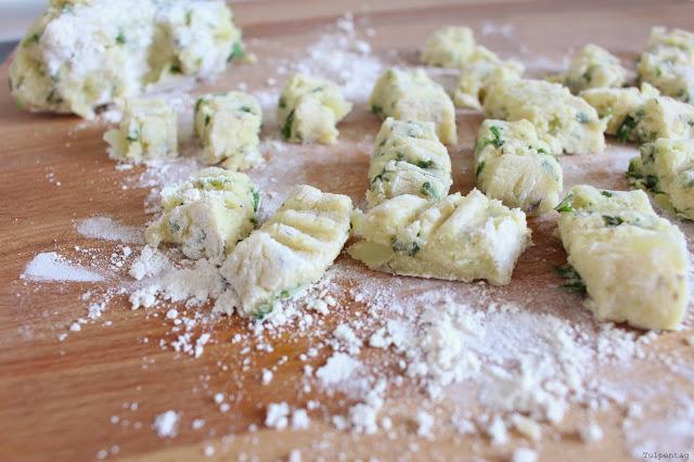 selbst gemachte Gnocchi