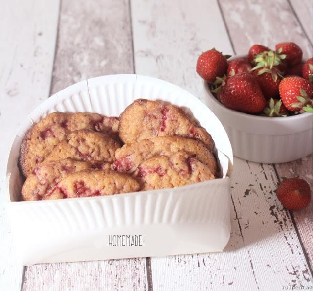 Cookies Vegan Erdbeeren Rezept Kekse