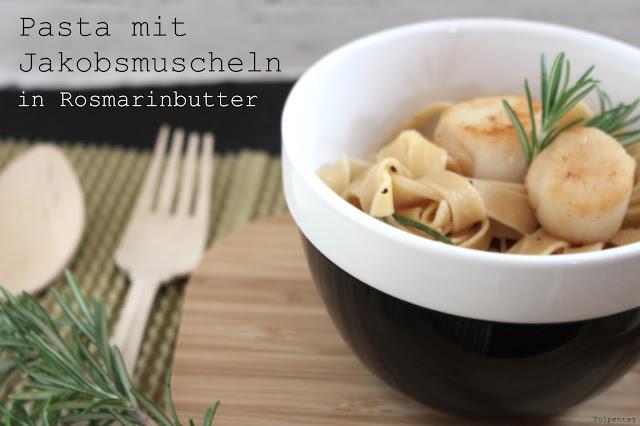 pasta jakobsmuscheln nudeln rosmarin schnell butter rezept