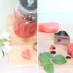 Wassermelonen-Orangen-Drink mit Limette und Minze