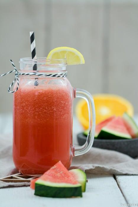 Getränk Drink Wassermelone Sommer Orangen Rezept
