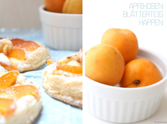 Aprikosen Blätterteig Dessert backen Rezept Marzipan