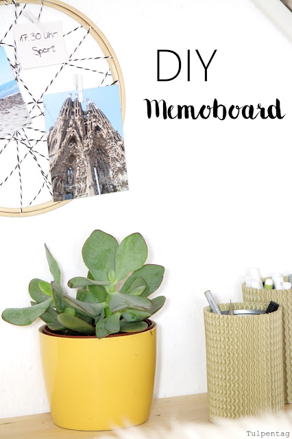 diy memoboard home office buero stickrahmen