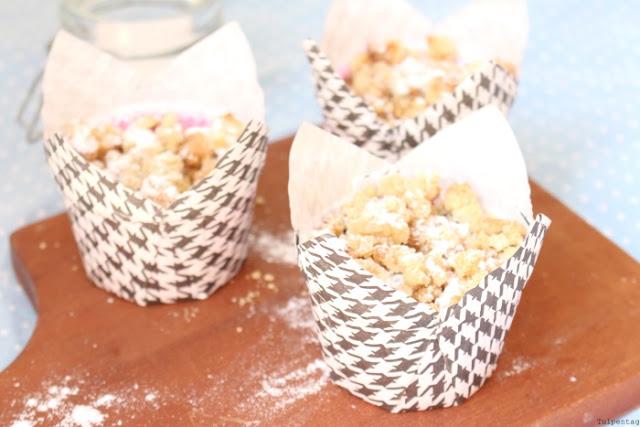 muffins quark streusel nektarinen mohn backen rezept