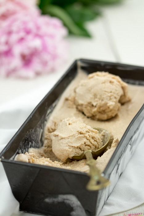 Zimteis Eis Zimt ohne Eismaschine Joghurt Rezept