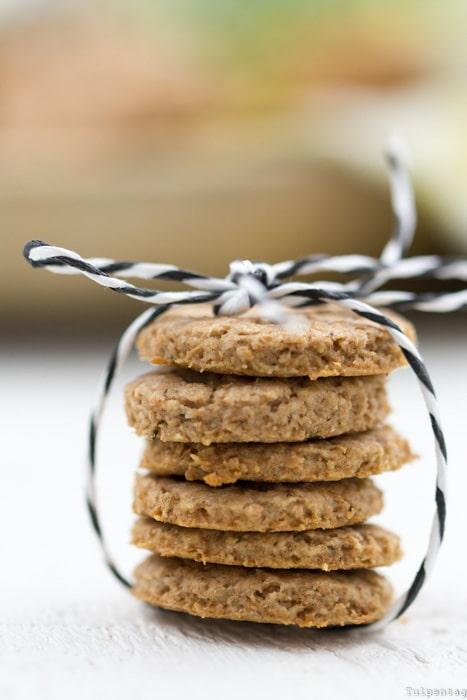 Vollkorn Kekse Cookies Rezept Honig Rosmarin Dinkelmehl Vollkornkekse Dinkelkekse gesund