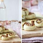 Herzhafte Pilz-Frischkäse-Schnecken aus Blätterteig