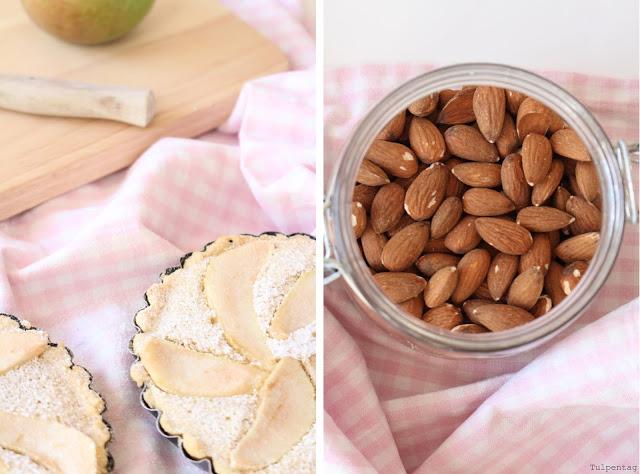 Birne-Mandel-Tartelettes Mandeln Birnen Tartelettes backen Rezept