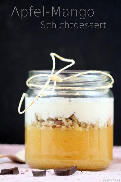 Apfel Mango Schichtdessert Dessert gesund