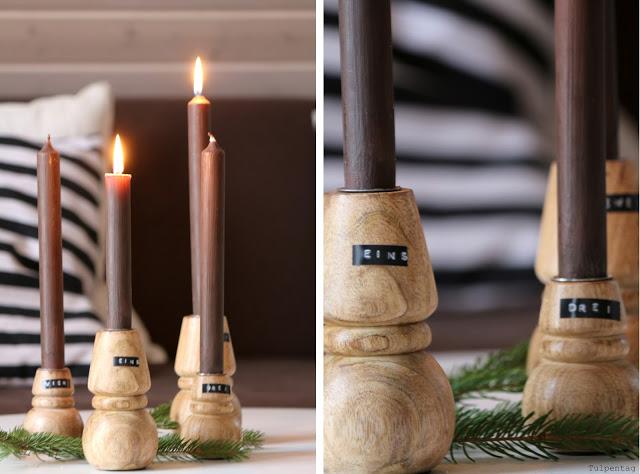 Adventskranz minimalistisch Deko Weihnachten