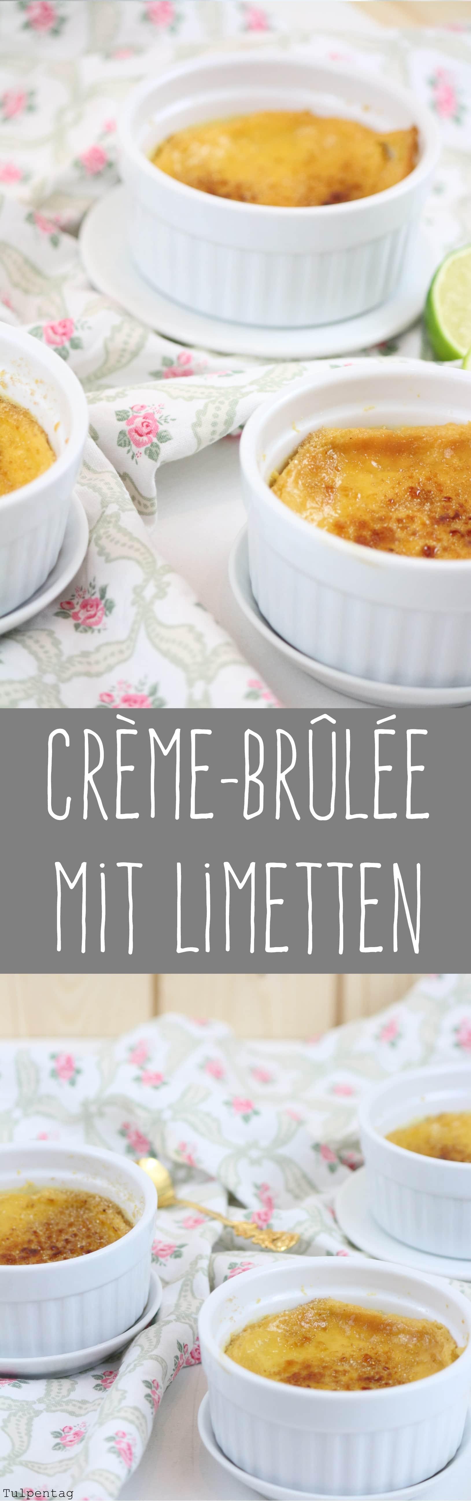 Crème-Brûlée mit Limetten Weihnachten Dessert