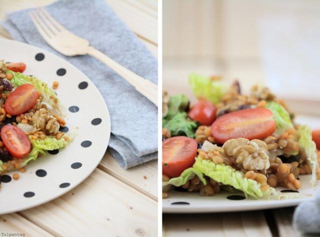 rote linsen salat gesund walnuesse