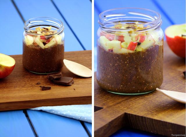 Chiapudding chia pudding schoko schokolade overnight rezept