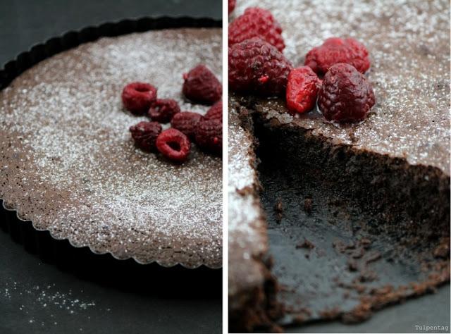 schokoladenkuchen schokoladentarte chocolate Schokolade kuchen backen rezept tarte kakao