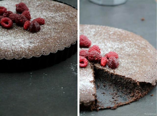 schokoladenkuchen schokoladentarte Schokolade chocolate kuchen backen rezept tarte kakao