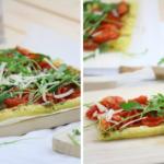 Blätterteig mit kandierten Tomaten, Pesto und Rucola