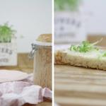 Brot im Glas mit Haferflocken und Haselnüssen