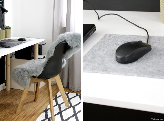homeoffice Ideen Buero Ordnung Organisation Mousepad filz diy