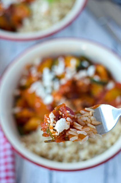 Chorizo Paprika Naturreis Zucchini Rezept