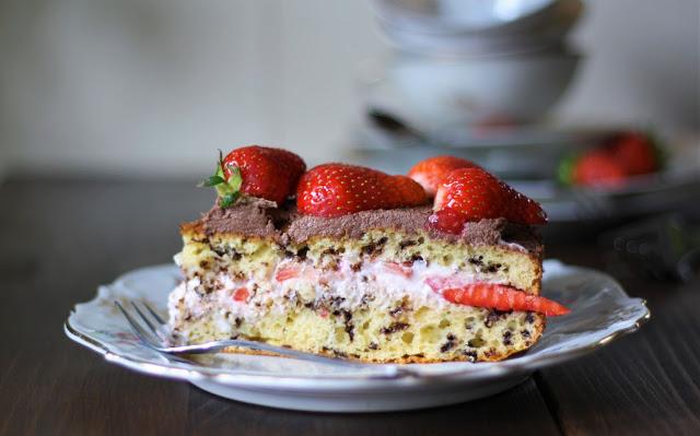 Erdbeertorte Torte Erdbeeren Schokolade Sahne