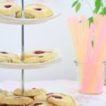Cheesecake-Cookies mit Himbeeren