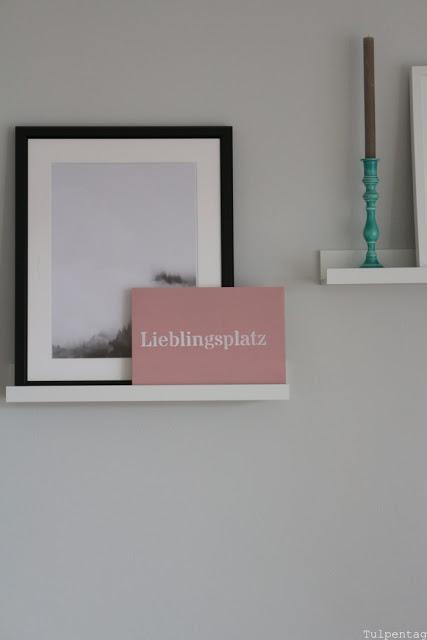 Kreidefarbe Wohnzimmer DIY Schild Inspiration einrichten