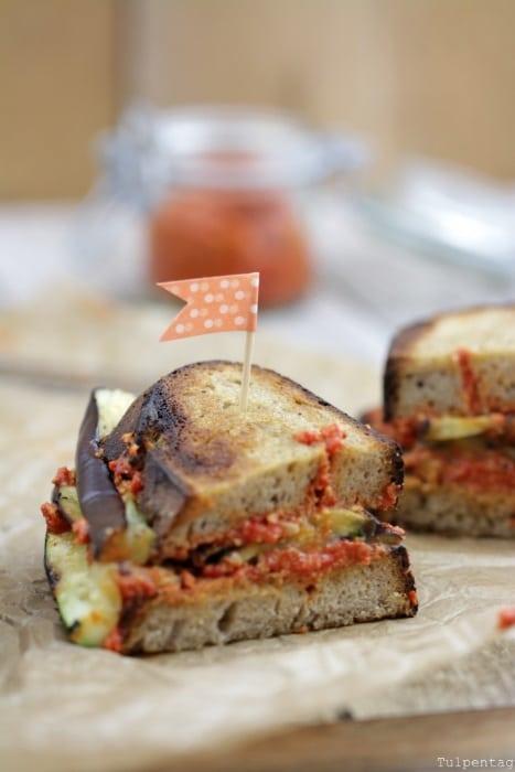 Grill-Sandwich vegetarisch Grillen Gemüse Rezept