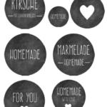 Etiketten-Marmelade