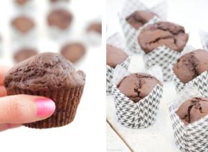 Schoko-Kirsch-Muffins Schokolade Muffins Kirschen Rezept