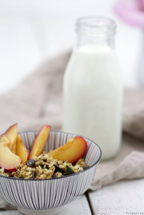 granola Knuspermüsli Rezept Feigen Blütenpollen