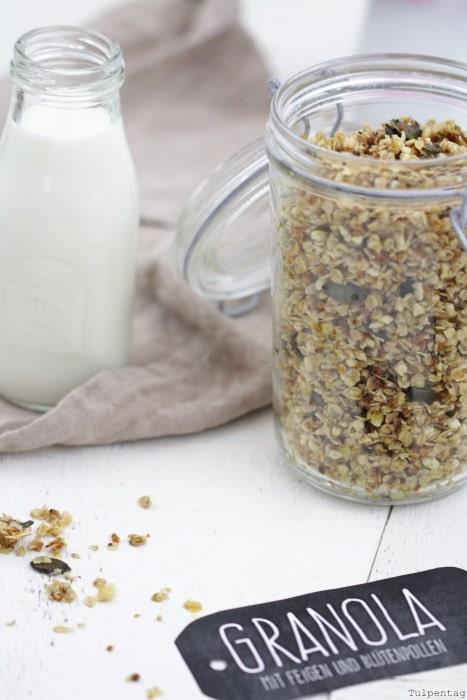 granola Blütenpollen Knuspermüsli Rezept Kokosöl