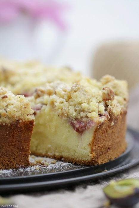 Streuselkuchen Mit Quarkschicht Und Zwetschgen Tulpentag Foodblog