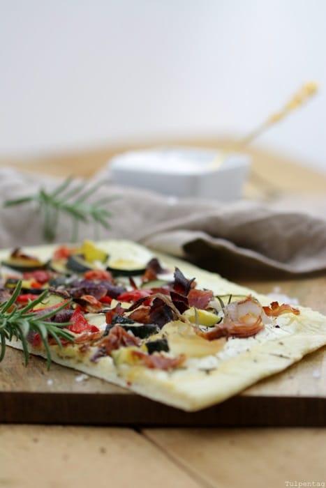Flammkuchen Pizza Ofengemüse Rezept leicht