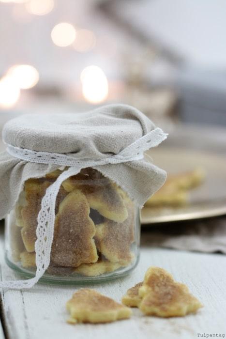 Zimt-Zucker-Plätzchen Geschenk aus der Küche Last Minute #rezept #weihnachten #plätzchen #backen
