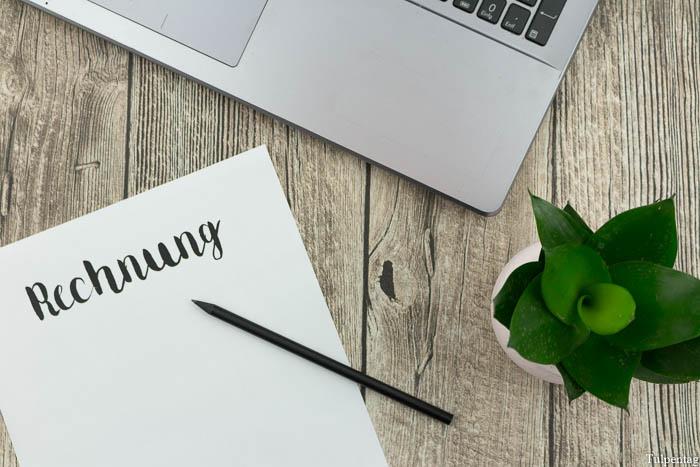 Rechnungen Blog erstellen Kleingewerbe Bloggen Tipps