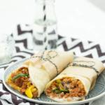 Wraps gefüllt mit Couscous und Gemüse