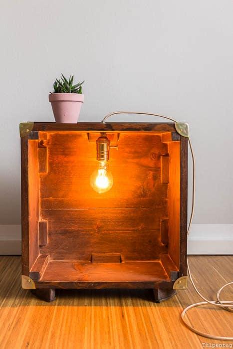 DIY Lampe selber bauen Textilkabel