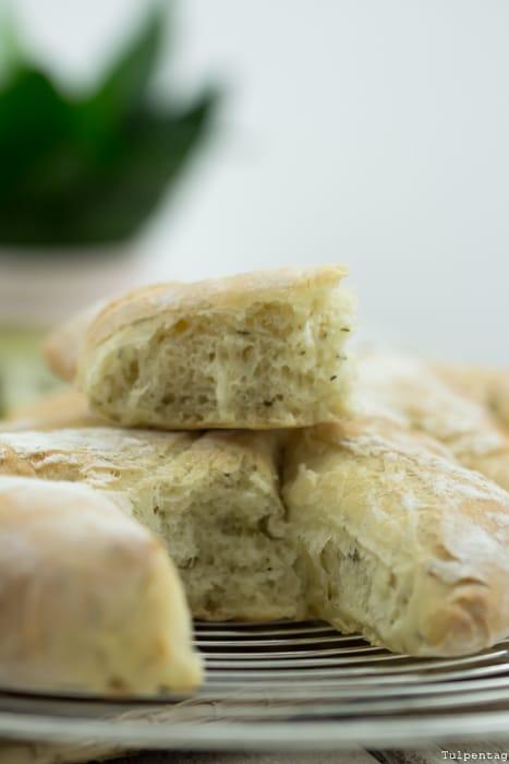 Fougasse Brot Rezept Kräuter Hefe