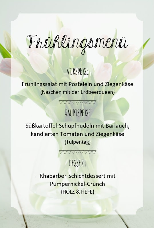 Frühling Menü 3 Gänge vegetarisch