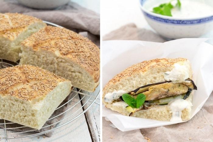 türkisches Fladenbrot vegetarischer Döner Kichererbsen Bratlinge Rezept