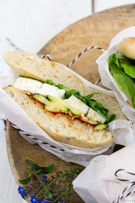 Sandwich Focaccia Grillen Picknick Rezept