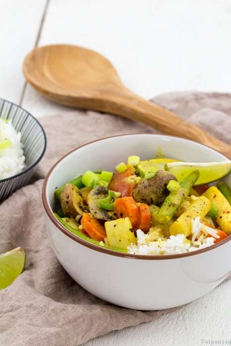 HelloFresh Kochboxen Spargel Curry vegetarisch Rezept