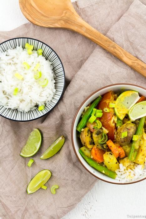 HelloFresh Kochboxen Spargel Curry vegetarisch Rezept
