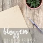 Wichtige Seiten Bloggen