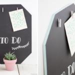 DIY Memoboard mit Tafellack