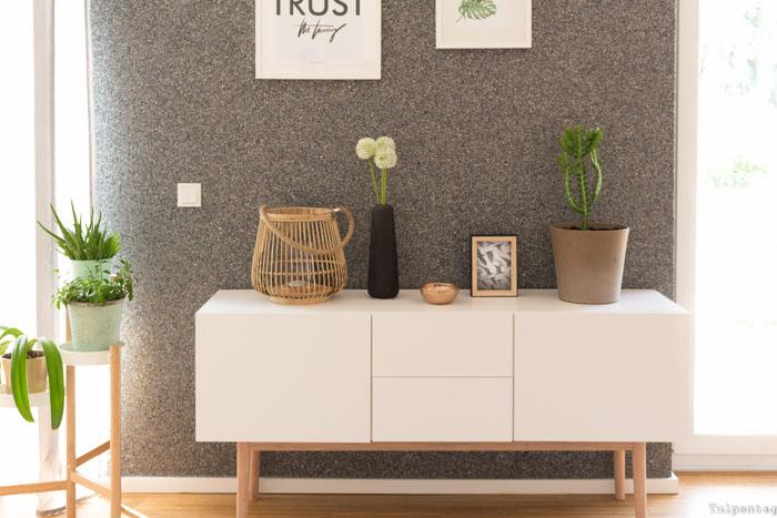 Deko Ideen Wohnzimmer Esszimmer Urban Jungle Essecke Sideboard Kaktus Pflanzen