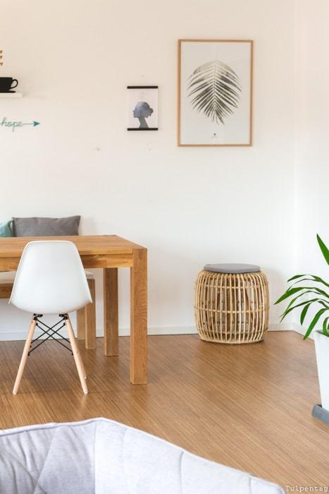 Deko Ideen Wohnzimmer Esszimmer Urban Jungle Essecke Eames Nachbildung