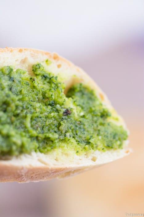 Radieschengrün Pesto essbar Baguette Rezept