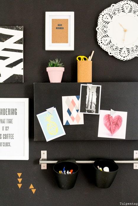 DIY mit Kork und Bilderrahmen Bild Deko Geschenkidee